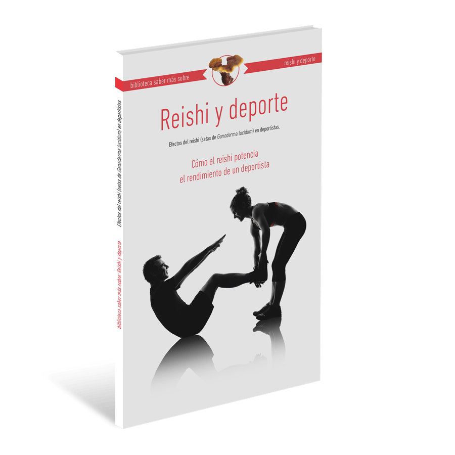 Book Reishi and sport Reishi's effects on athletes. Reishi online. Lingzhi mushroom. Certified organic, with Spanish Sanitary Register accreditation.